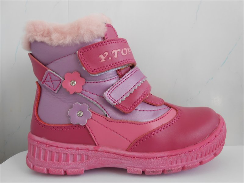 Новые красивые и качественные зимние ботинки для девочек